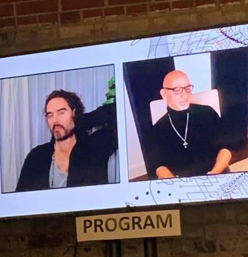 Van Council (right) interviews Comedian Russell Brand. 
