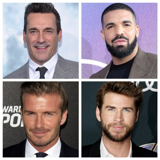 Who has your vote for best celebrity eyebrows?  - Shutterstock Credits: Kathy Hutchins for David Beckham and Drake; Tinseltown for Liam Hemsworth; and DFree for Jon Hamm.