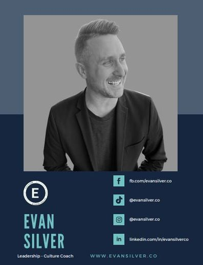 Evan Silver, co-owner of Silver Salon, a business coach and the host of the Touch the Line podcast.  -
