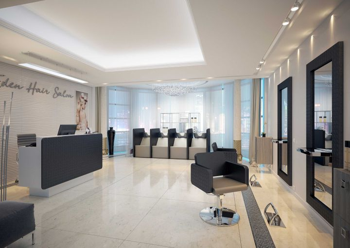 The rendering of this salon shows how new salons are distancing the stations further than they used to.   -