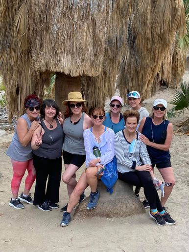 With organizers Mary Wilson and Ann Mincey-Jetton seated center front, the attendees to Destination Rejuvenation 2 after their silent nature divination hike.   -