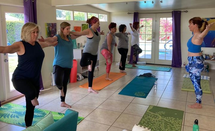 Yoga sessions were part of each day's agenda.   -
