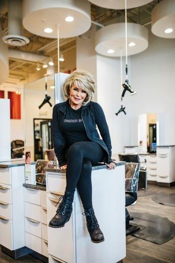Laura Ortmann has started direct messaging local students, encouraging them to visit Ginger Bay Salon and Spa in St. Louis. 