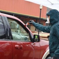On March 18, the companies organized a drive thru at a local farmer's market, giving away 1,000...