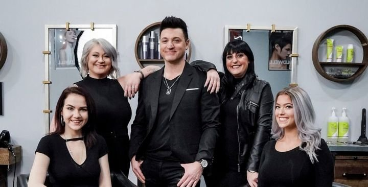 Rob Burgio and the team from Tesora Salon in Snyder, NY.   -