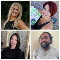 Webinar panelists clockwise from top left include Andrea Birst, Jen LeBlanc, Calvin Caldwell and...