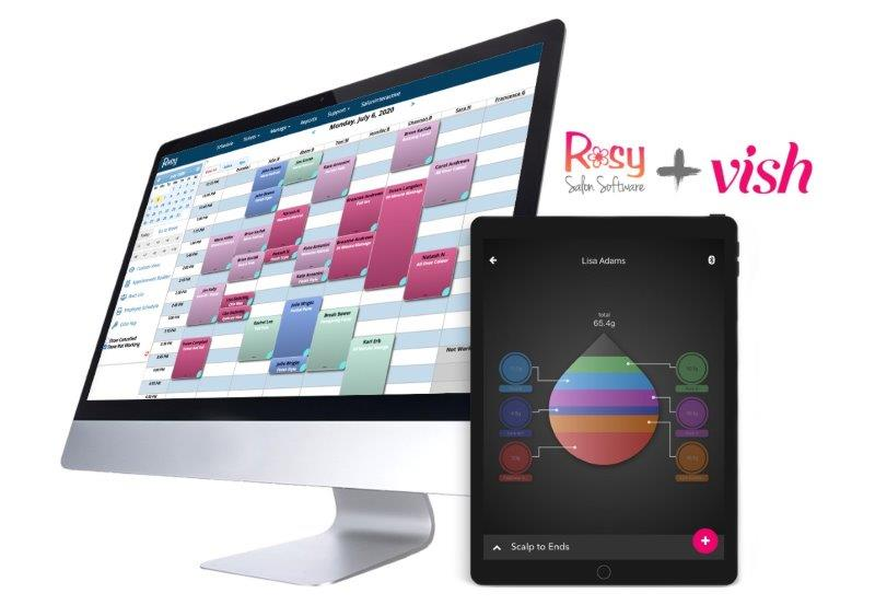 Rosy Salon Software Adds Color Management with Vish