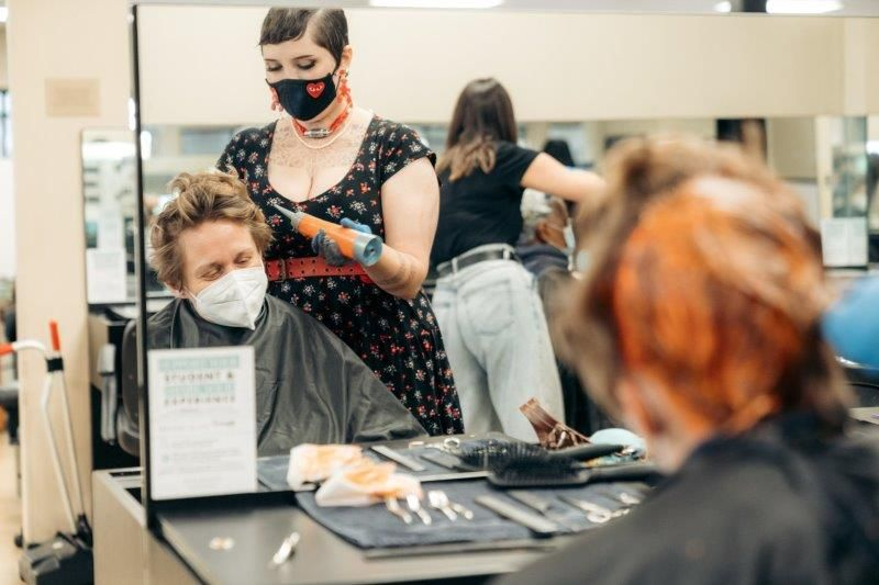 <p>Students and instructors at the Gene Juarez Academy in Seattle&nbsp;offer beauty services to patrons of the Jubilee Women&#39;s Center, as part of the Zenoti Foundation&#39;s Shelter Days event.&nbsp;</p>