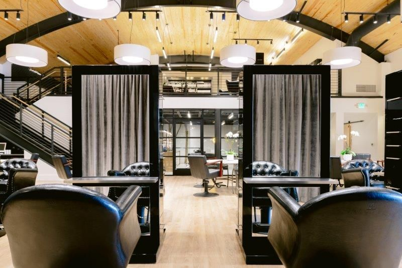 <p>The curtains have multiple duties at Grow. They help separate the retail, blowdry bar and reception area from the main salon, while helping with noise reduction and echoing due to the height of the two-story ceiling. They also make each area feel more intimate and friendly.&nbsp;</p>