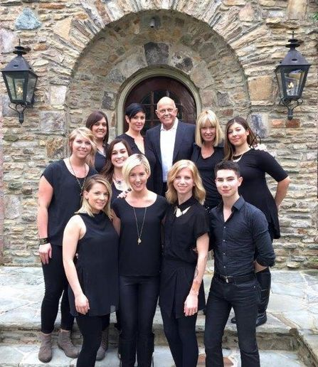 Martin Parsons, Candy Shaw and the Sunlights Balayage team on location. 