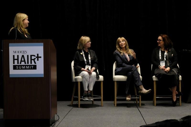 <p>At the Day One wrap-up panel, moderator Stacey Soble gathers some expert advice from Sheila Wilson, Amy Gibson and Karen Gordon.</p>