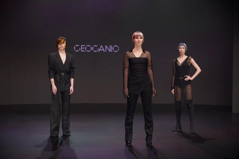 <p>Global Educators Mandee Tauber and Christian Ceja-Dompin explored the harmony of shape, proportion and texture in the Oribe show.</p>