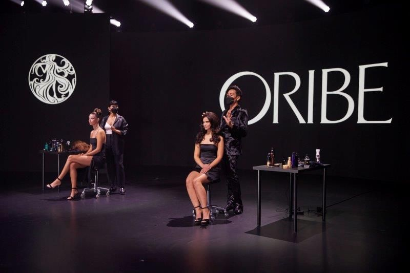 <p>Global Educators Mandee Tauber and Christian Ceja-Dompin explored the harmony of shape, proportion and texture in the Oribe show</p>