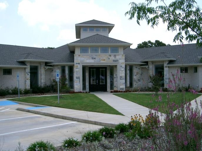 The exterior of Mouton's Salon in Grapevine, Texas.  -