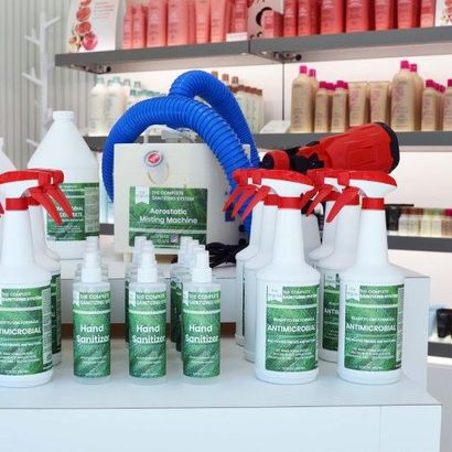 Not only is the Aerostatic Misting Machine and the Antimicrobial Solution good for the salon,...