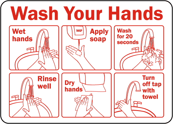 The sign Whip Salon is posting to remind employees to wash their hands. 